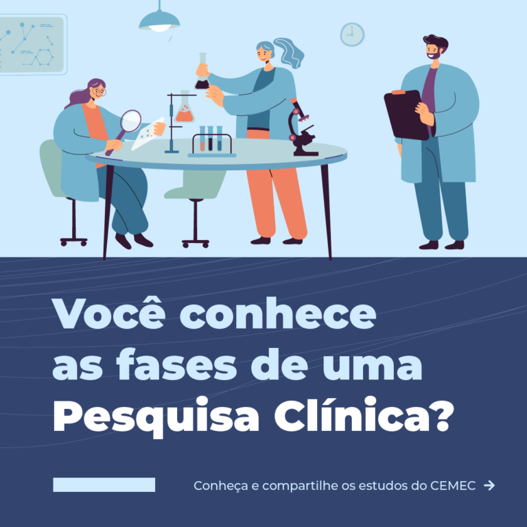 CEMEC - fases de uma pesquisa clínica